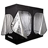 96''x48''x78'' Black Indoor Mylar Hydroponic Plant Growing Tents Water-Resistant Garden Seedling Grow Tent
