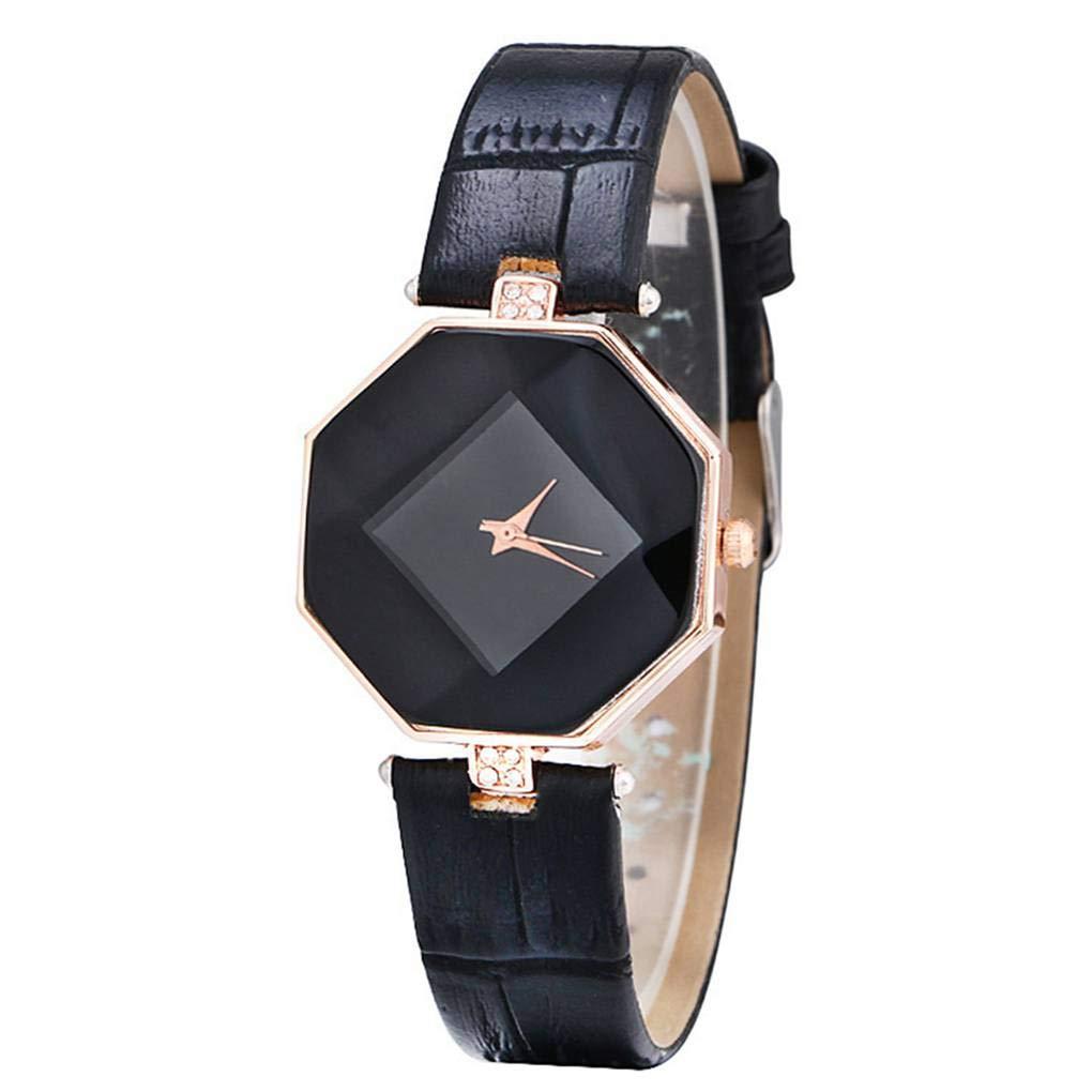 InisIE Femmes Strass Rhombus Bracelet Cadran Montres Lady Cristal Bracelet Horloge Quartz Casual