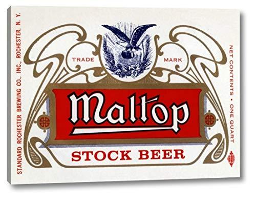 Maltop Stock Beer - Maltop Stock Beer by Vintage Booze Labels - 29