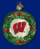 NCAA Wisconsin Badgers Glass Wreath Ornament