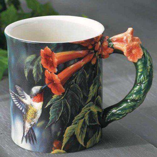 Hummingbird Sculpted Mug by Rosemary Millette