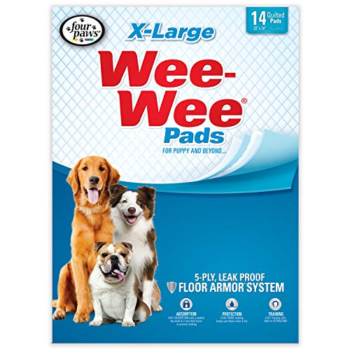 Wee Wee Dog Pee Pads Extra Large | 14 Count | Puppy Training Pee Pads for Dogs | XL Size
