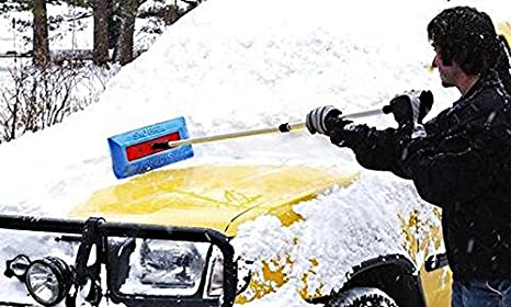 """47/"""" Extendable Telescoping Handle SnoBrum Remove Heavy The Original Snow Remover Brush // Tool for Vehicles Wet Snow from Your Car // SUV // Truck Without Scratching the Paint Push-Broom Design"""