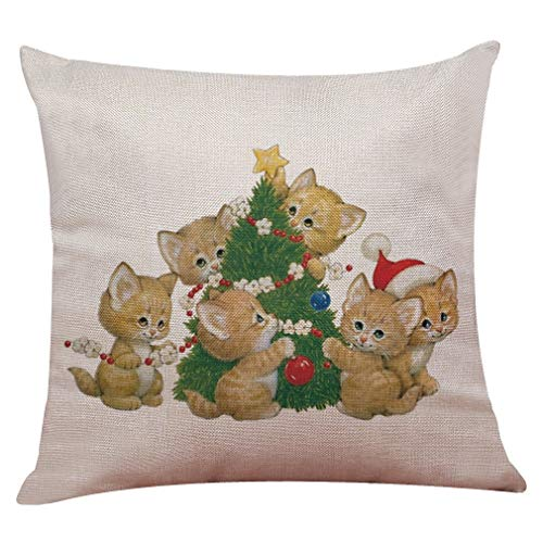 Christmas Kitten Pillow