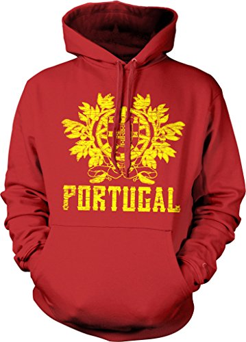 Portugal, Coat of Arms, Henry of Burgundy, Portuguese Hooded Sweatshirt, NOFO Clothing Co. L Red (Portugal Coat)