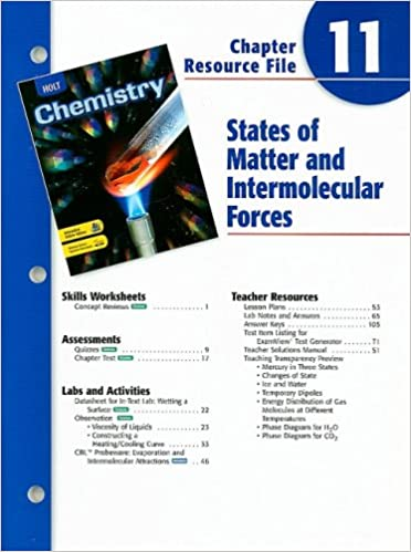 Holt Chemistry Chapter 11 Resource File: States of Matter and ...