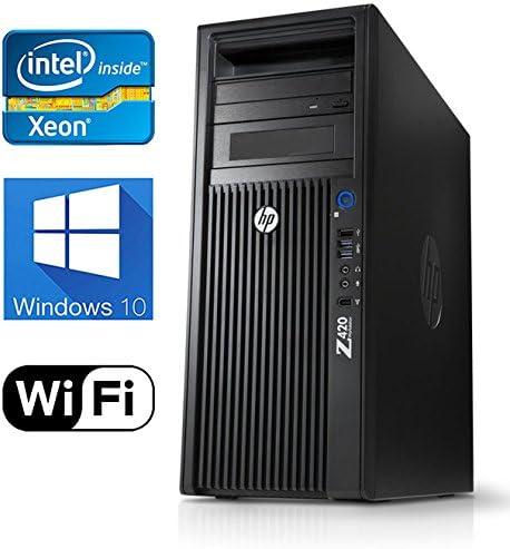 HP Z420 Workstation, Quad Core Xeon CPU upto 3.8GHz CPU, 16GB DDR3 RAM, New 240GB SSD New 1TB HDD, Windows 10 Pro, USB 3.0, Nvidia Quadro 2000 1GB Video Card, WiFi Renewed