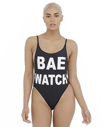 6088ec06987 ENLA Swimwear Women's Bae Watch One Piece Swimsuit at Amazon Women's  Clothing store: