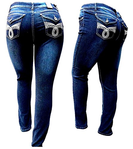 LSQUARE DARK BLUE WOMENS PLUS SIZE denim jeans STRETCH SKINNY LEG LS98173MS