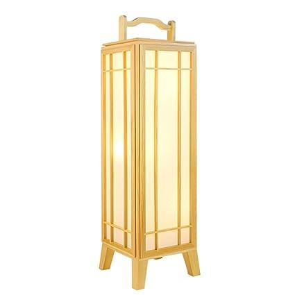 Lámpara de madera maciza pino creativo, cortina imitación ...