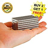 (BUY 2 GET 1 FREE) 100pcs/1pack Multi-Use Refrigerator Magnets, Office Magnets, Refrigerator Magnets, Whiteboard, Map, Magnetic Pins,Sliver, size 5MM x 1MM