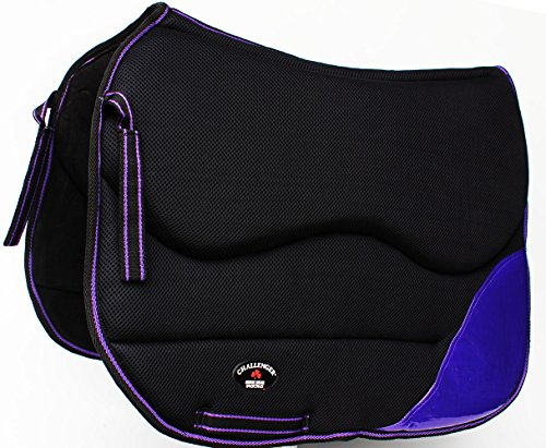 Contour Dressage Pad - Challenger Horse English Western Saddle Non-Slip Memory Foam Dressage Full Contour Pad 12219PR