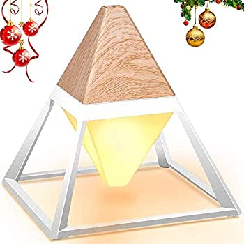 Promotion Led Table Lamp Pyramid Wood Grain Eye Care Table