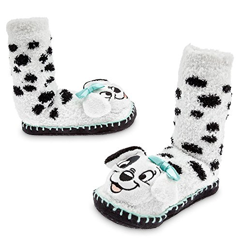 Disney 101 Dalmatians Slipper Socks for Girls Size 11/12 White