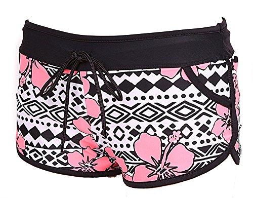 Nassau Sports Women's Summer Board Shorts Swim Trunk Large Pink Floral Print