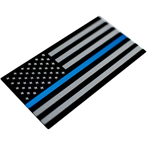 """Aluminum Thin Blue Line Decal Blue Lives Matter Sticker Emblem 