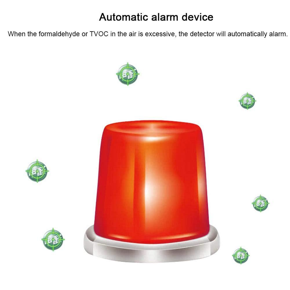 heresell El Monitor de Calidad del Aire Puede detectar en Tiempo Real el formaldehído en Interiores Detector de formaldehído en el hogar Instrumento de ...