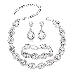 Rhinestone Crystal Jewelry Sets for Women.