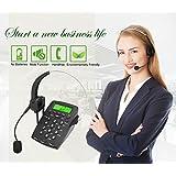 Centro de llamadas teléfono y auriculares, dansrue Negro Corded Intercomunicador con cancelación de ruido auriculares para oficina negocio y hogar