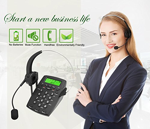 Dansrue Call Center Phone with Noise Cancelling Headset,