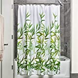 iDesign Anzu Fabric Shower Curtain, Water-Repellent Bath Liner for Kids', Guest, College Dorm, Master Bathroom, 72