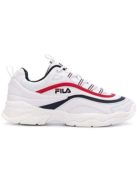 734d8afbd04 Fila Mujer 1010562150 Blanco Cuero Zapatillas  Amazon.es  Zapatos y  complementos