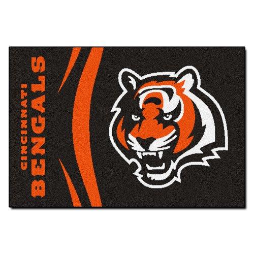 FANMATS NFL Cincinnati Bengals Nylon Face Starter Rug (Rug Bengals Mat)