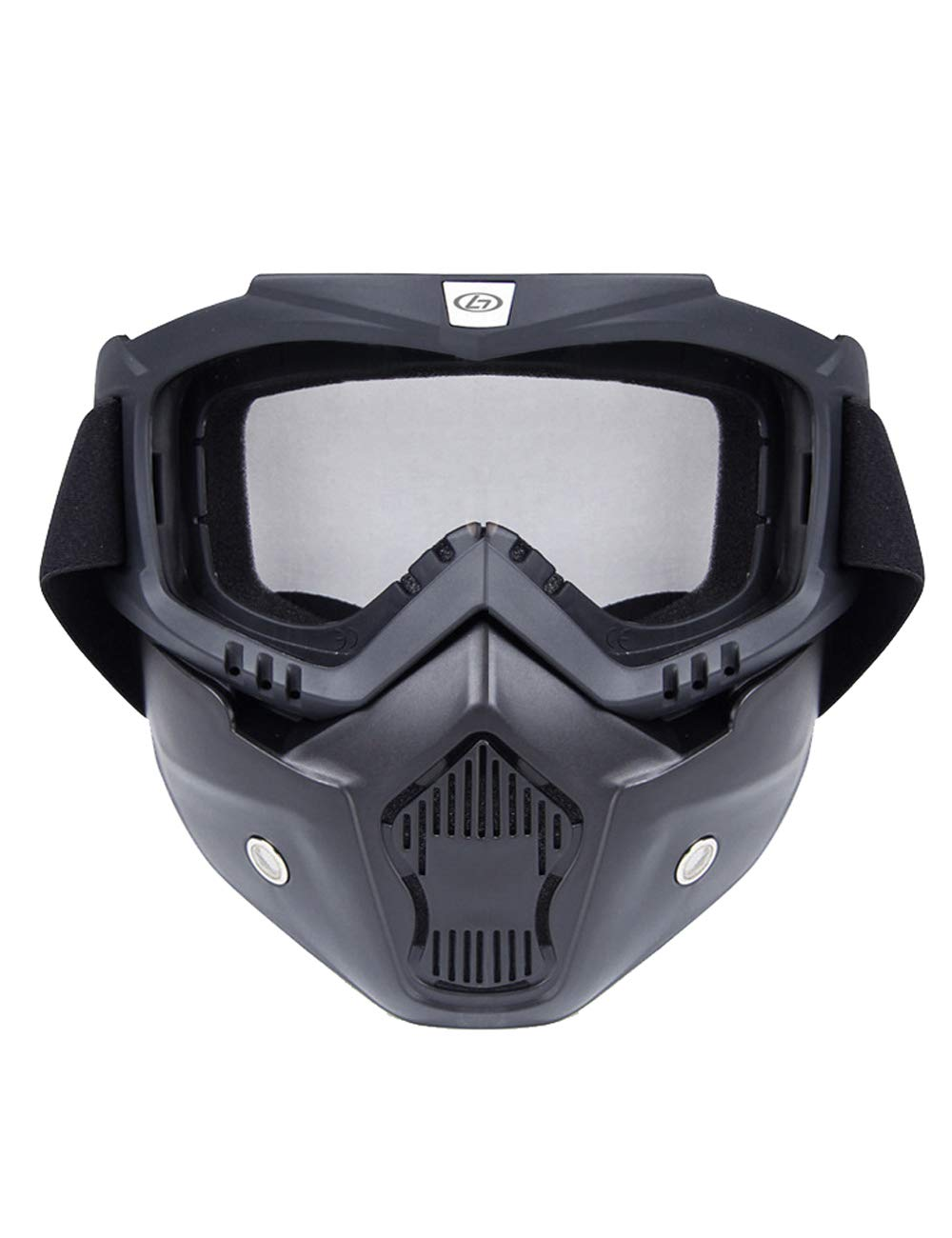 Motorcycle Goggles Bicycle Mask Protecting Padding Helmet Sunglasses with Removable Face Mask Adjustable Strap Wuxi Shuailande Trade Co. Ltd. CK-HGY-H021-BLCK