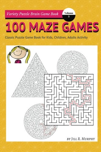 100 Maze Games Book: Variety Classic Puzzle Brain Game Book for Kids, Children, Adults Activity (Volume.3)