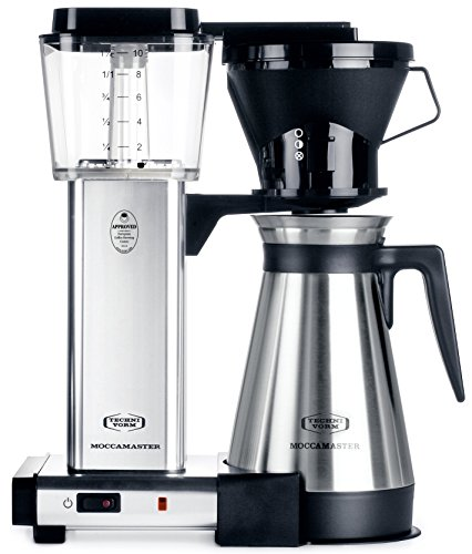 Aluminum Drip Coffee Maker - Technivorm Moccamaster 79112 KBT Coffee Maker, 40 oz, Polished Silver