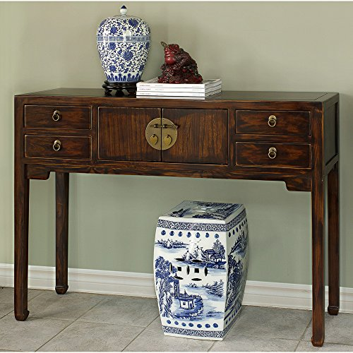 China Furniture Online Elmwood Console Table, Ming Style Mahogany (Mahogany Finish Console Table)