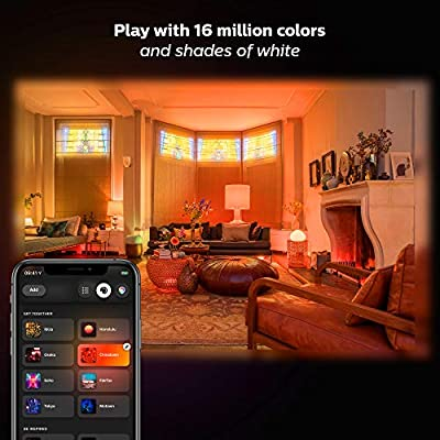 Philips Hue White and Color Ambiance LED Smart Light Bulb Starter Kit, 3 A19 Smart Bulbs & 1 Hue Hub (Works with Alexa, Apple HomeKit & Google Assistant)