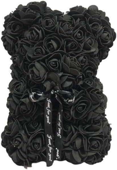 Beige NUOBESTY 1 Pc Artificiel Rose Ours 25 Cm Rose Ours Simul/é Rose pour Toujours Fleur /Éternel Ours Amour Coeur Mousse Rose D/écor PE Mousse Rose Ours Cadeau pour La Saint Valentin Date de Mariage