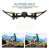 Drone with HD Camera, Tomzon T25 WIFI FPV Navigator RC Quadcopter with 120° Wide-Angle 720P Camera, Altitude Hold, Headless Mode, One Button Take Off and Landing, Emergency Stop by Tomzon