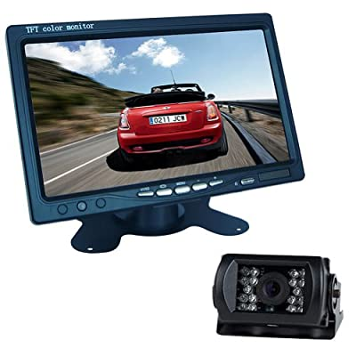 "Generic 7"" LCD Monitor Bus Lorry Car Rearview Waterproof Reversing Camera+10m video cable"