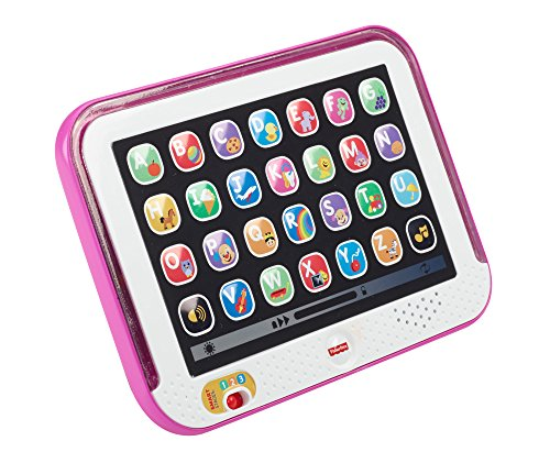 51%2B3dWpuspL - Fisher-Price Laugh & Learn Smart Stages Tablet, Pink