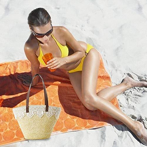 tracolla singola intrecciato con a Biback da a mano in tracolla tessuto spiaggia a spalla tessuto Borsa Borsa in AqEwR