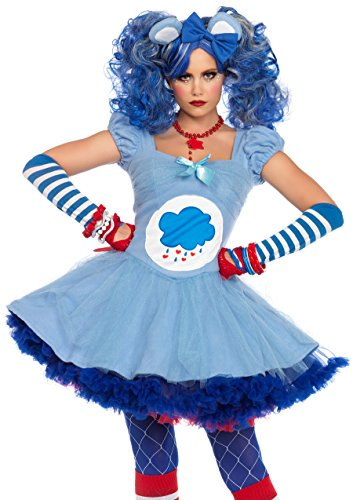 Leg Avenue Women's Care Bears 2 Piece Grumpy Bear Costume, Blue, Medium -