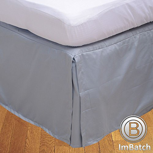 Floris Fashion Olympic Queen 300TC 100% Egyptian Cotton Silver Grey Solid Superb Finish 1PCs Box Pleated Bedskirt Solid (Drop Length: 15 inches)