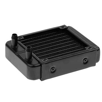 Magideal Intercambiador de Calor de Agua Radiador de Aluminio 10pipes para Boca Recta CPU