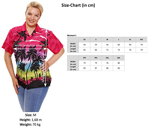 6XL Bb Rose Funky Chemisier XS Hawaienne pnFxvqPtx