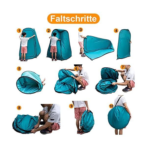 51%2B3fha2mzS YUANJ Camping Duschzelt, Pop Up Toilettenzelt Wasserdicht Umkleidezelt, Outdoor Privat Mobile WC Zelt für Camping…