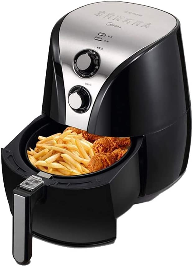ZZHMW Air Fryer, 2.2 QT 800W Electric Stainless Steel Air Fryers Oven Oilless Cooker, Preheat & Knob Control.