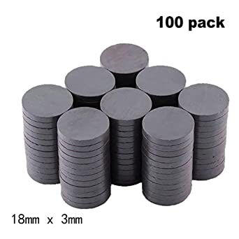 Amazon.com: 100 imanes de ferrita de cerámica por caja ...