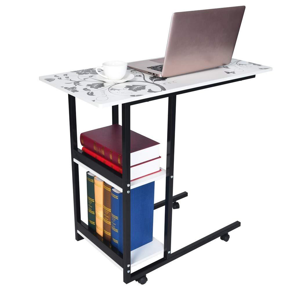 Blueseao ノートパソコンベッドテーブル シンプルな折りたたみ レイジーベッドサイド ノートパソコンテーブル シンプルなデスクトップ ホーム モバイルスモールテーブル   B07MCTX78G