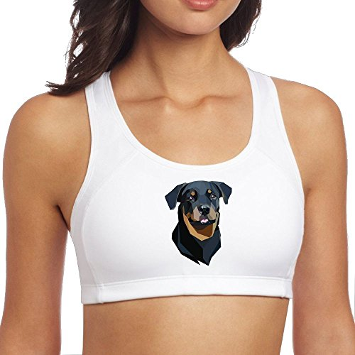 Fonsisi Women's Sports Bra Polygon Dogs Breathable Sleeveless Yoga Vest