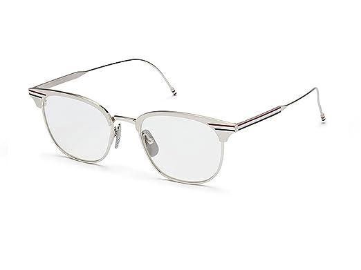 d68bad42fb2 Eyeglasses THOM BROWNE TB 104 B-SLV Satin SilverShiny Silver at ...