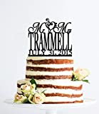 Custom Mr And Mrs Cake Topper With Name Treble Bass Clef Heart And Date Wedding Topper Elegant Personalized Cake Topper For Wedding Anniversary Cake Topper Funny Wedding Present For The Couple