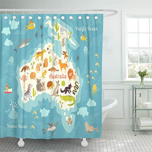Semtomn Shower Curtain Waterproof Polyester Fabric for sale  Delivered anywhere in Canada