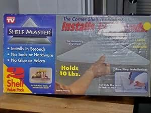 Shelf Master, As Seen on TV, 2 Corner Shelves White